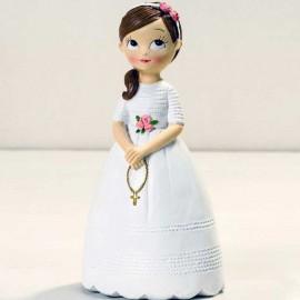 Figura Niña con Rosario 16,5 cm