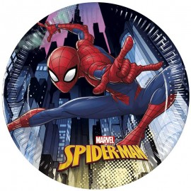 8 Platos SpiderMan 20 cm