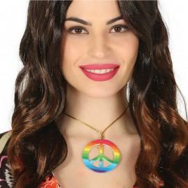 Collar Hippie Peace Multicolor