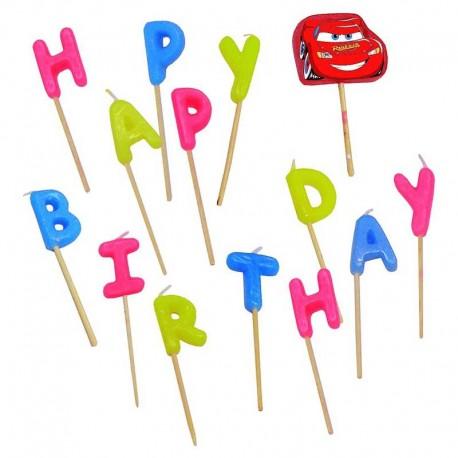 Velas Cars Happy Birthday