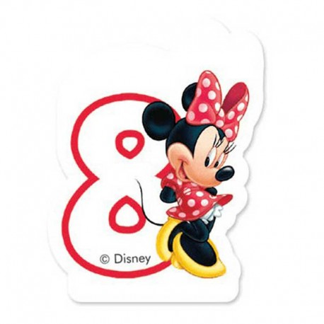 Vela nº8 Minnie Mouse