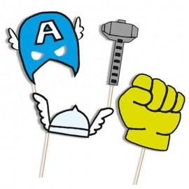 6 Accesorios para Photocall Avengers Comic
