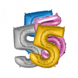 Globo Numero 5 Foil 35 cm