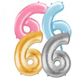 Globo Numero 6 Foil 86 cm
