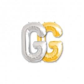 Globo Letra G Foil 86 cm