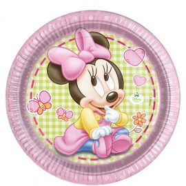 8 Platos Baby Minnie 23 cm
