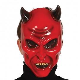Careta de demonio con Cuernos Rojo