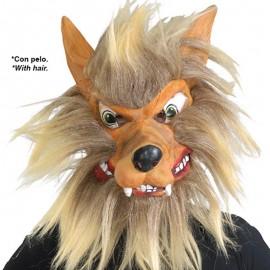 Máscara Lobo con Pelo Látex