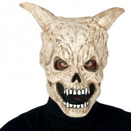 Máscara Calavera con Cuernos Sinuosos Látex