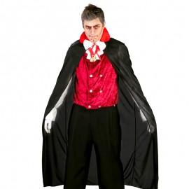 Capa Negra Vampiro Negro y Rojo 140 cm