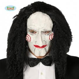 Máscara Marioneta con Pelo Látex