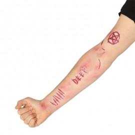 Tatuajes Artificiales de Cicatrices de demonio