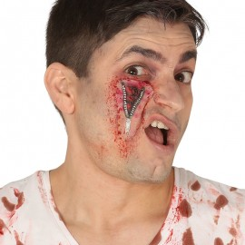 Cicatriz Cremallera Ojo Látex