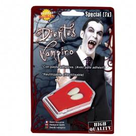Colmillos Vampiro con Adhesivo