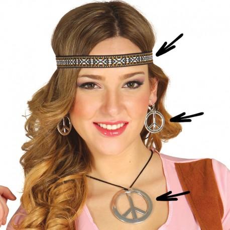 Conjunto Hippie con Collar, Cinta y Pendientes