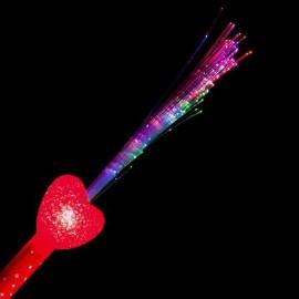 Palo Luminoso Fibra Optica corazón