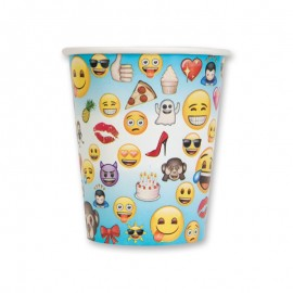 8 Vasos con Emoticonos 250 ml