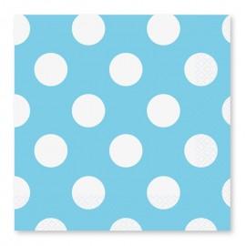 16 Servilletas con Lunares Blancos 33 cm