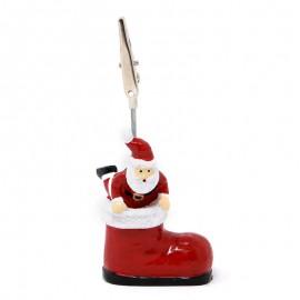 Pinza Tarjeta Noel Bota 6 Cms