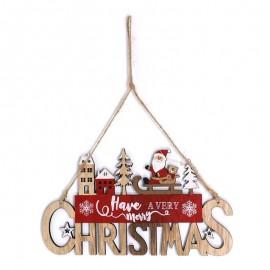 Colgante Nadera Merry Christmas 21 X 12 Cms