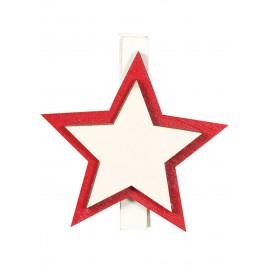 9 Pinzas Estrellas Madera 45 Cms