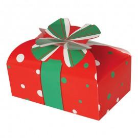 Caja Navidad Roja Cartón 18X11 Cms