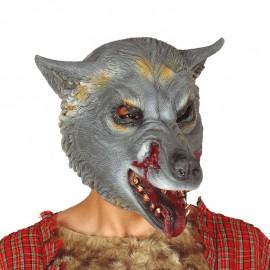 Máscara Lobo Gris Látex