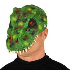 Máscara Dinosaurio Verde Foam