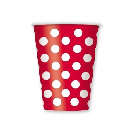 6 Vasos con Lunares 355 ml