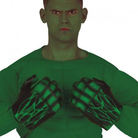 Guantes Monstruo Verde Látex