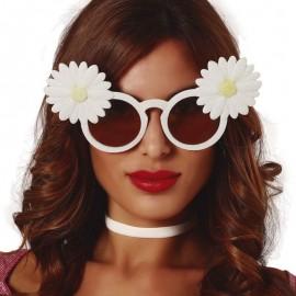 Gafas Blancas Con Margaritas