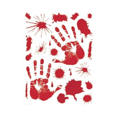 Set Adhesivos Sangre 30 X 39 Cms