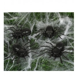 4 Arañas 10 Cms Plástico