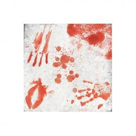 20 Servilletas Sangre 33 cm