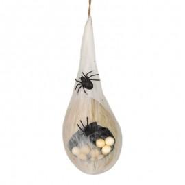 Huevos De Araña Con Telaraña Con Luz 40 Cms