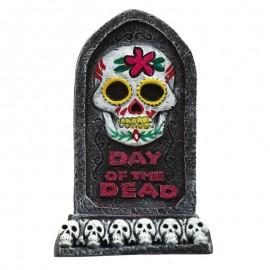 Lapida Día De Los Muertos Resina 13 X 8 Cms