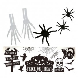 Decoración Halloween Pared Con Adhesivos 70 X 25 Cms