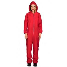 Disfraz Convicta Capucha Rojo Adulta