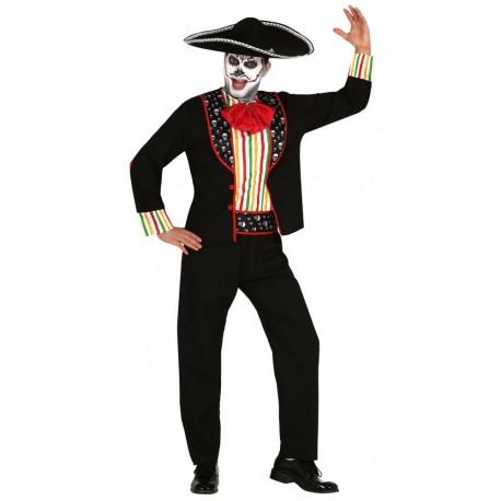 Disfraz Esqueleto Día De Los Muertos para Hombre