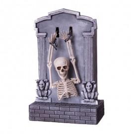 Tumba Esqueleto con Luz, Sonido y Movimiento