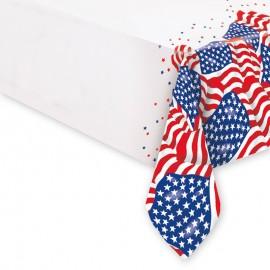Mantel con Banderas Americana 54 x 108 cm
