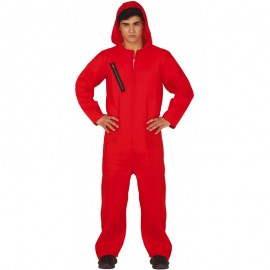 Disfraz Convicto Capucha Rojo Adulto