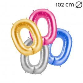 Globo Número 0 Foil 100 cm