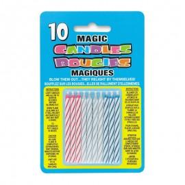 10 Velas Mágicas con Rayas