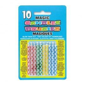 10 Velas Mágicas con Rombos