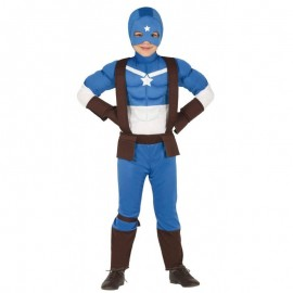 Disfraz de Superheroe Azul para Niño