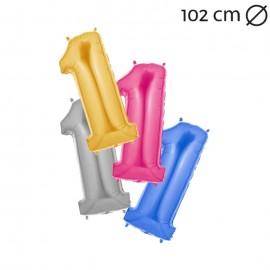 Globo Número 1 Foil 100 cm