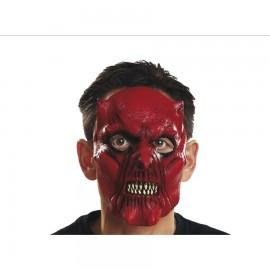 Máscara Roja de Media Cara Diablo de Látex