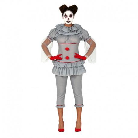 Disfraz de Payasa Asesina para Adulta