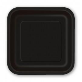 14 Platos Lisos Cuadrados 23 cm